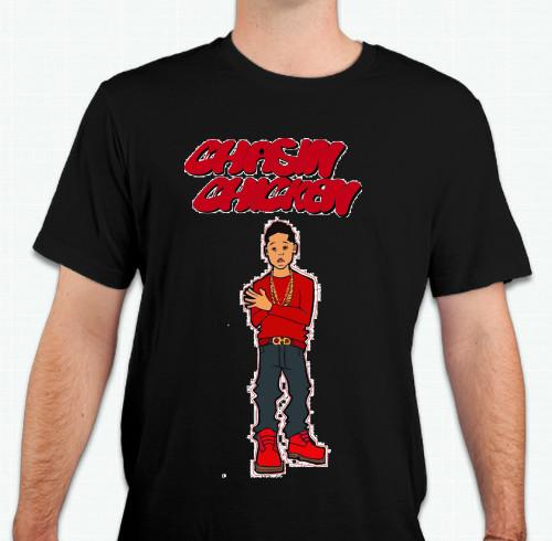 "Custom T-Shirt Design ""black CHasin"" From OoShirts.com"