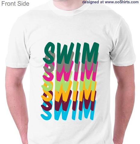 Swim Design Ideas for Custom T-Shirts