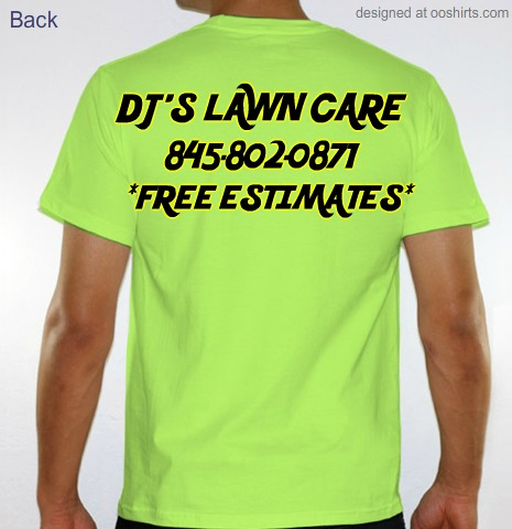 Custom t shirt design dj 39 s lawn care from for Lawn care t shirt designs