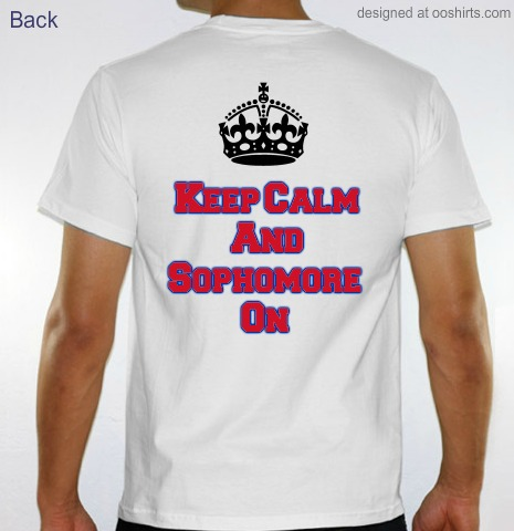 custom t shirt design sophomore homecoming from