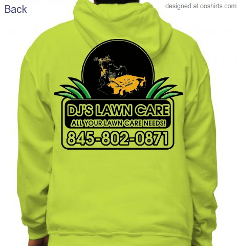 Custom t shirt design djs lawn care from for Lawn care t shirt designs