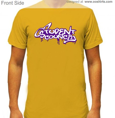 Custom T Shirt Design Student Council From