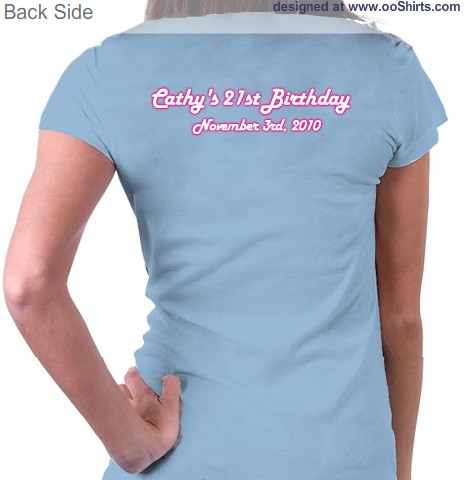 Cathys 21st Birthday Design This