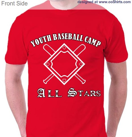 sports baseball youth team camp design this - Baseball Shirt Design Ideas
